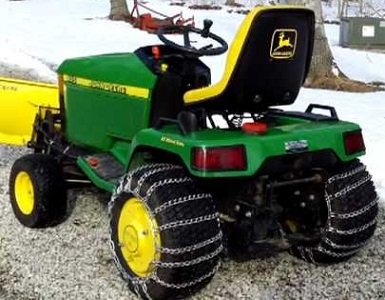 John Deere Tractor Equipped For Winter