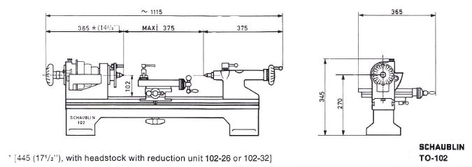 Lathes For Sale E2 80 A2 Best Lathe Auctions Online Trademachines >> Schaublin 102 Technical Specifications