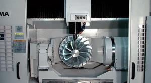 5 axis vertical machining center while drilling