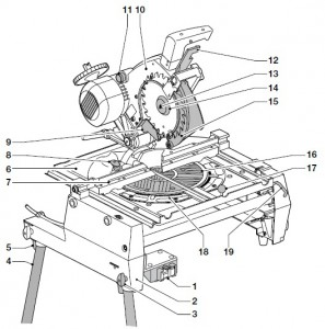 DEWALT DW742 Pendular Saw Diagram