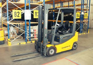 driveable electric forklift