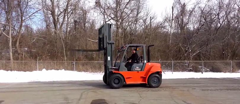 diesel forklift at company
