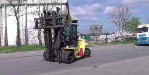 three wheel LPG forklift
