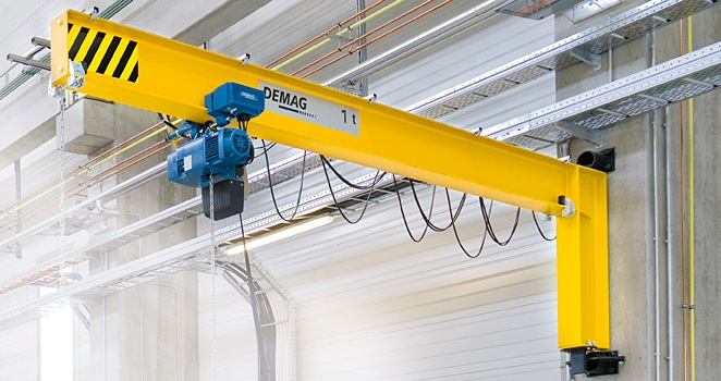wall-mounted slewing crane demag