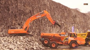 Doosan truck and excavator