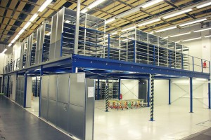professional storage system in a factory