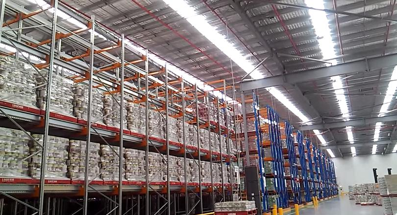 storage system in a warehouse
