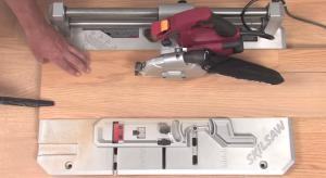 Laminate floor saw