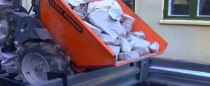 minidumper on construction site