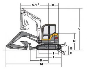 Midi Excavator Drowing Volvo