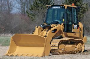 Caterpillar 953 bulldozer at work