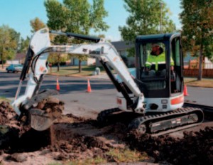 BOBCAT 354 mini excavator digging