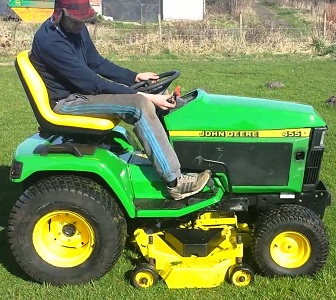 Used john deere 455 tractors for sale for Garden machinery for sale