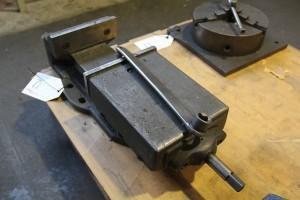 Maschinenschraubstock in Werkstatt