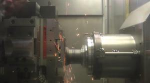 Maschinenschraubstock bei Produktion