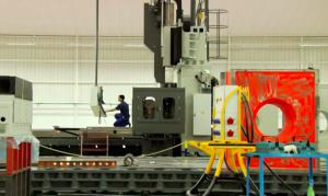 Zayer Portalfräsmaschine im Betrieb