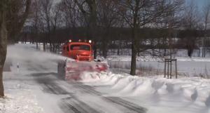 fahrbare Schneefräse
