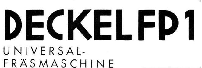 Deckel FP1- Logo