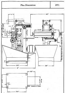 Deckel FP1 Drechmaschine Zeichnung